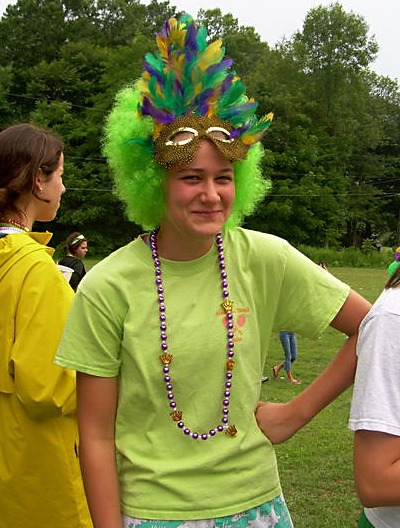 Dressing up at summer camp