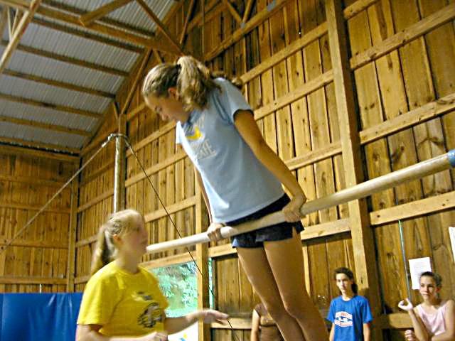 Girls at Gymnastics Summer Camp