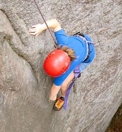 Girls Outdoor Adventure Rock Climbing