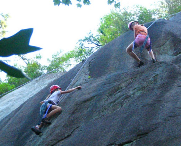 A Summer Camp Rock Climbing Trip