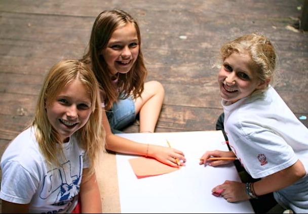 Kids at camp in North Carolina