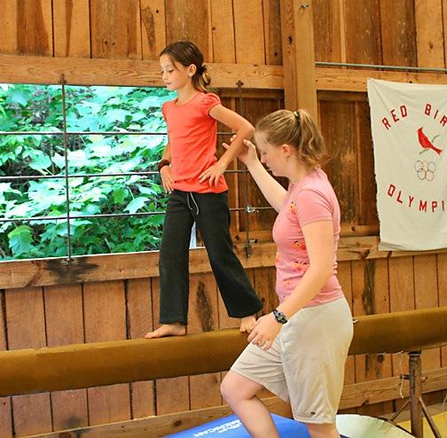 Girls at Gymnastics Camp