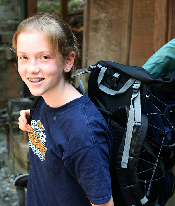 Girl Teen Camp Hiker