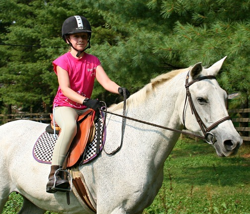 Horse Riding Girl at Summer Camp