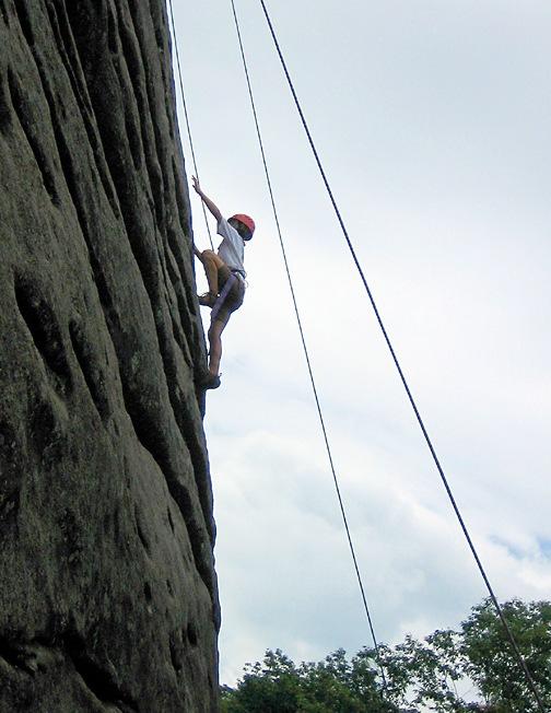 Girls Rock Climbing Summer Camp
