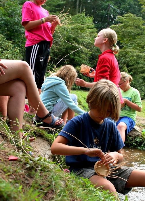 Weaver Baskets at Summer Camp