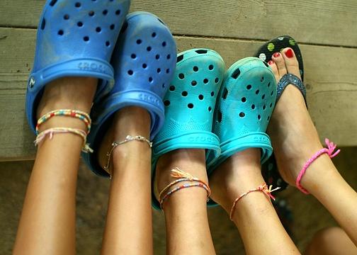 Camp Youth Girls Feet