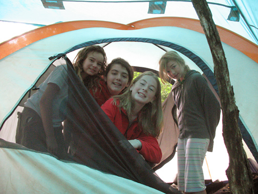 Camping Outdoors Children