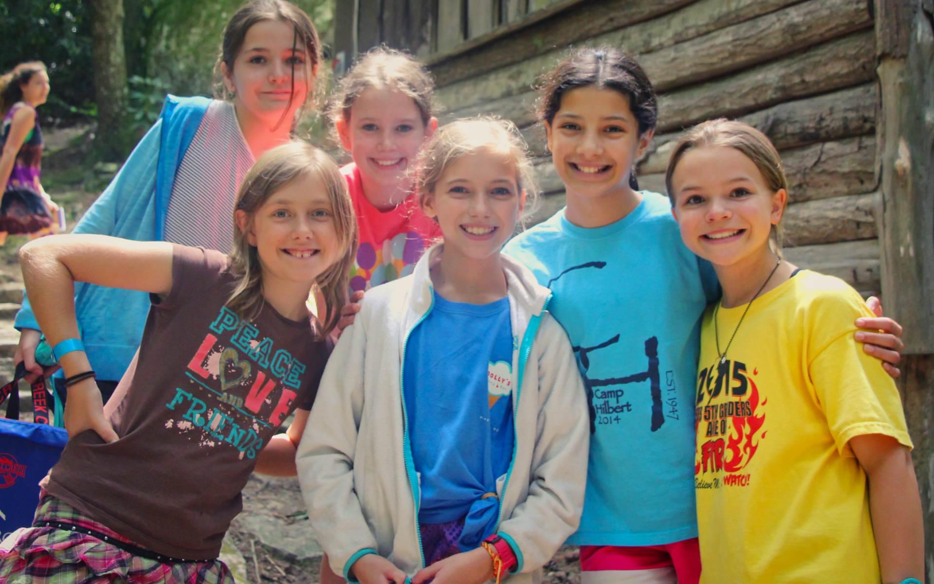 summer camp kids showing warmth