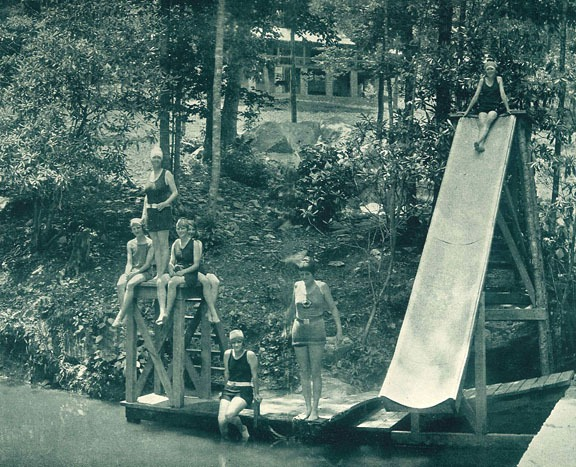 Water Slide Fun for Summer Camp Girls