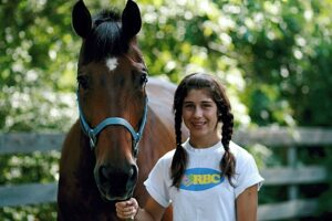 horseback riding girl camp lesson