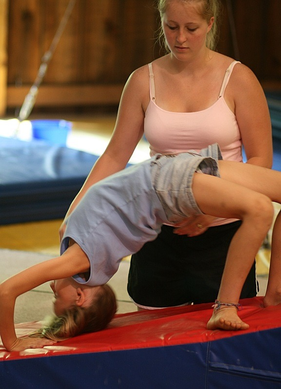 Gymnastic Camp Back Bend Exercise