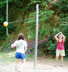 Outdoor Tetherball Games at Camp