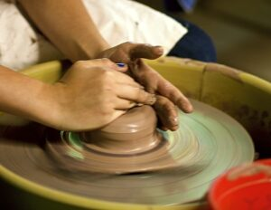 ceramics camp pottery wheel