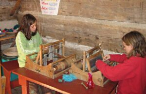 Weaving for Children at Summer Camp