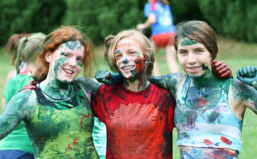 Crazy Painted Camp Kids