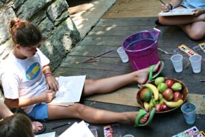 Girls Painting Camp