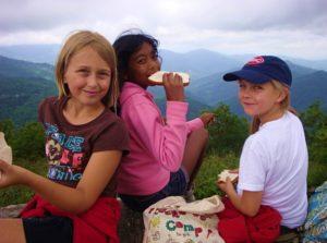 Junior Campers Hiking