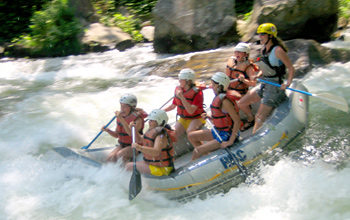 summer camp adventure rafting