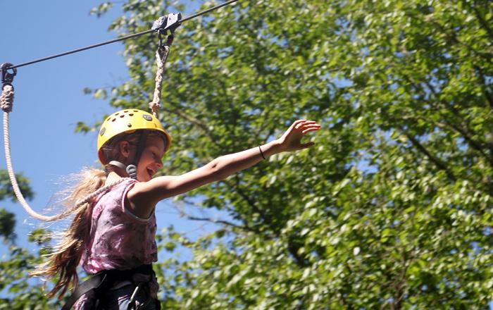 Camp Zip Line Kid
