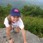 Camp Girl Happy Climber