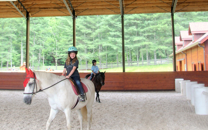 Camp Covered Horseback Riding Arena