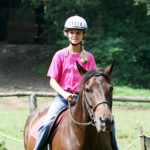 Equestrian camp rider girl