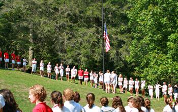 Flag Ceremony Girl Summer Camp