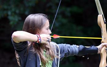 Girl Archery Sports