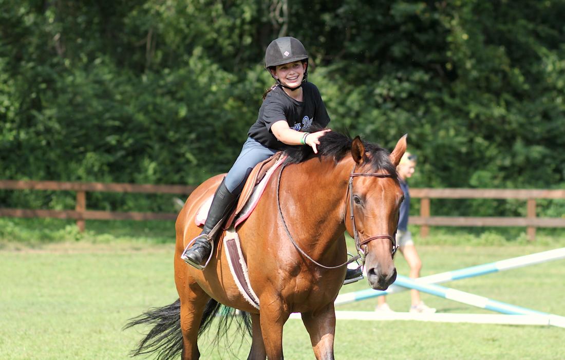 Horseback Riding Activity | Girls Summer Horse Camps | Rockbrook Camp