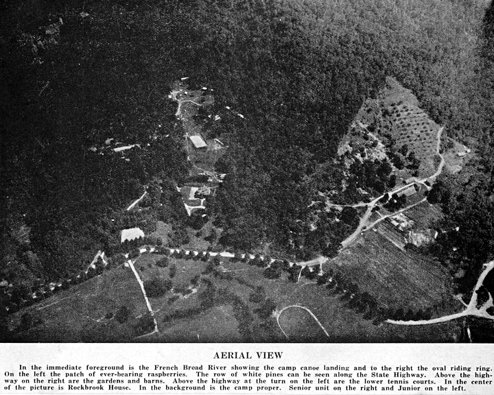 Western North Carolina Camp Aerial View