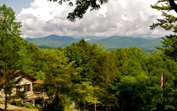 View from Hill at Rockbrook North Carolina Camp