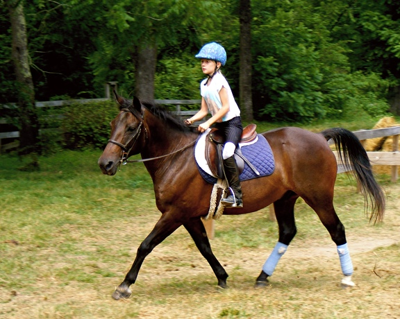 Riding Equestrian Kid