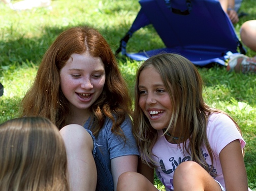 Girl Friends Outdoors