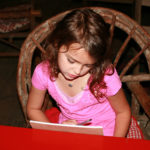Writing Home Camp Kid