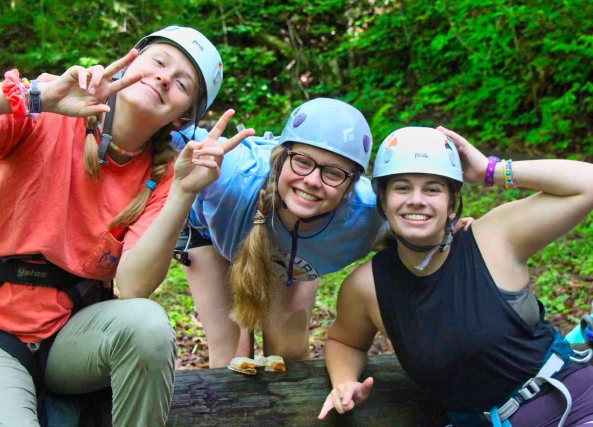 climbing teenagers