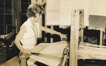 Camp Historic Girls Weaving