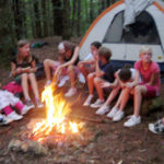 Camping Trip Girls Campfire