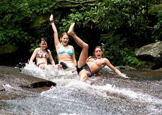 Sliding Rock Natural Water Slide in North Carolina