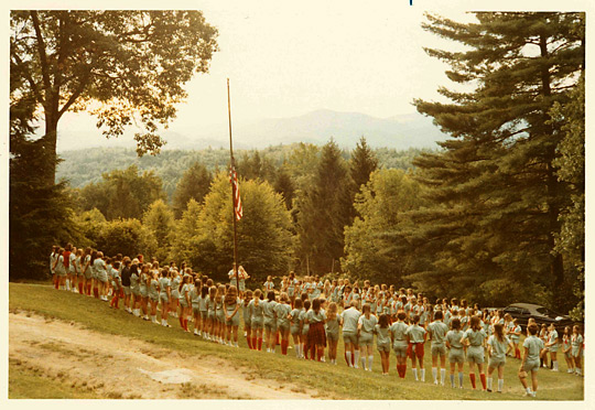 Girls Camp 1970s Ceremony