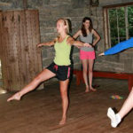 Kids learning dance at summer camp