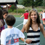 Summer Camp Girls Square Dancing
