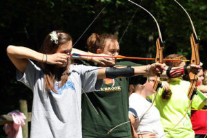 Girls Camps shooting archery