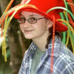 camp girl wearing fiesta hat