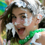 Camp Shaving Cream Fight Girl