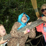 Campers acting like old ladies at summer camp