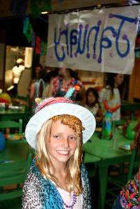 Camp birthday dinner dress up party
