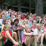 First girls camp assembly on the hill