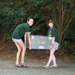 Moving camp trunk into summer camp