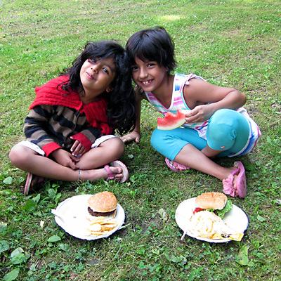 Summer Camp Picnic kids